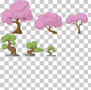 Tree Cherry Blossom 2D Computer Graphics Teeworlds PNG
