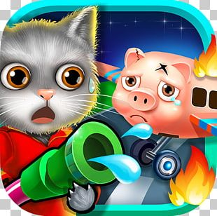 Animal Rescue! Airplane Flight Baby Fireman! Kids Hero Rescue Cat Whiskers Android PNG