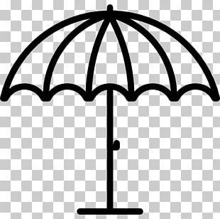 Beach Umbrella Drawing Line Art PNG