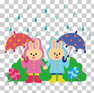 East Asian Rainy Season Illustration Raincoat Cloudburst PNG
