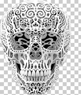 Calavera For The Love Of God Skull Art PNG