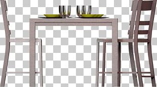 Table Bar Stool Chair Matbord Dining Room PNG