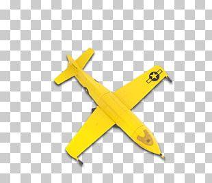 Airplane Yellow Cartoon PNG