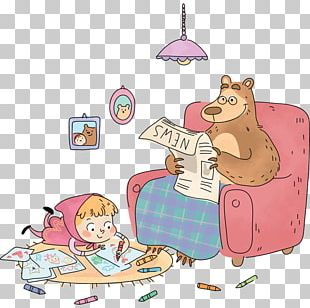 Masha Bear Sticker Child Wall PNG