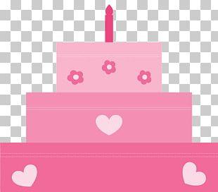 Birthday Cake Torte Pink PNG