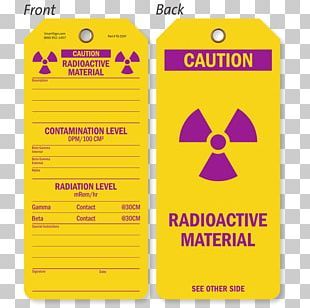 Paper Label Radiation Material Science Radioactive Decay PNG