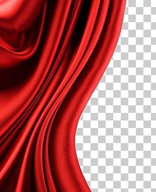 Satin Textile Silk Red PNG
