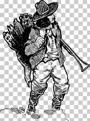 Turkey Hunting Pilgrim PNG