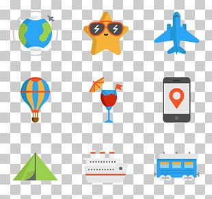 Flight Computer Icons Package Tour Travel Agent PNG