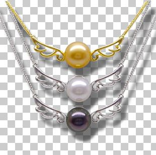 Pearl Amethyst Purple Material Necklace PNG