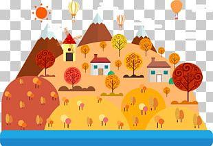 Drawing Cartoon Landscape Illustration PNG