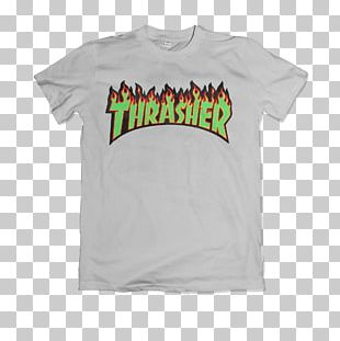 Thrasher Skateboarding Magazine T-shirt PNG