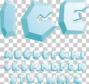 English Alphabet Ice Letter PNG