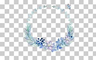 Butterfly Watercolor Painting Blue PNG