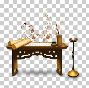 Desk Paper Chinoiserie Advertising PNG