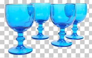 Wine Glass Cocktail Glass Champagne Glass Blue PNG