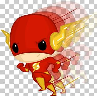 Flash Wally West Chibi Drawing Superhero PNG