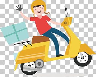 Delivery Euclidean Courier Scooter PNG