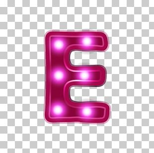 Letter Alphabet Neon PNG