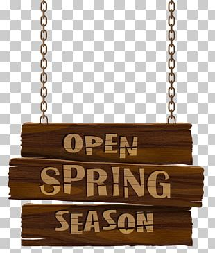 Open Spring Season Sign Transparent PNG