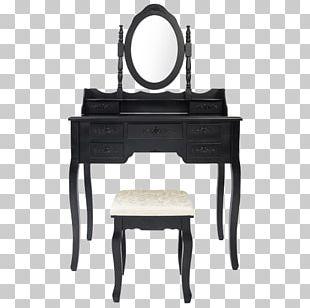 Table Black White Desk Furniture PNG