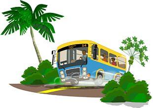 Tour Bus Service Travel School Bus PNG