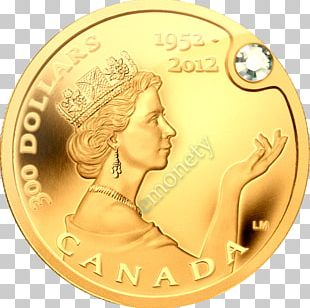 Canada Diamond Jubilee Of Elizabeth II Coin Royal Canadian Mint PNG