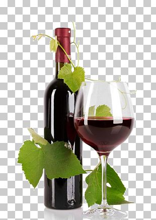 Red Wine Bottle Common Grape Vine PNG