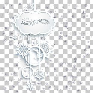 Hanging Christmas Card Frame Element PNG