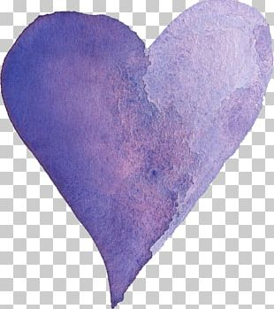 Transparent Watercolor Heart Watercolor Painting Purple PNG