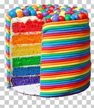 Layer Cake Rainbow Cookie Birthday Cake Wedding Cake Frosting & Icing PNG