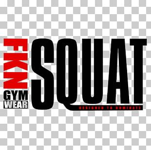 FKN Gym Wear Logo Squat PNG