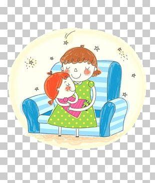 Child Mother Cartoon Illustration PNG