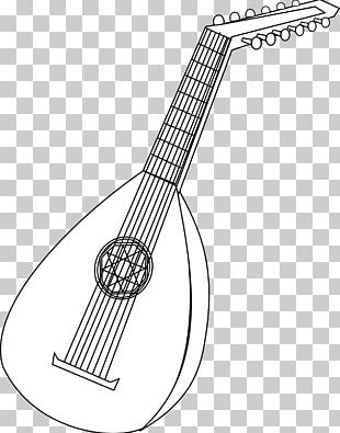 Coloring Book Lute Musical Instruments String Instruments PNG