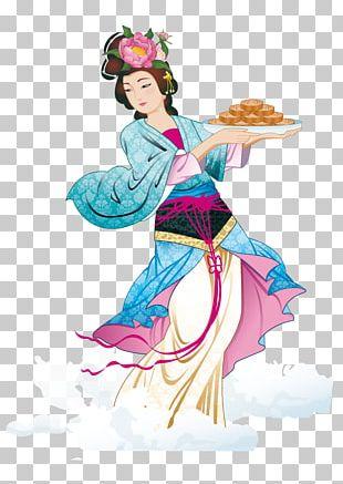 Mooncake Mid-Autumn Festival Chang'e Moon Rabbit PNG