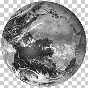Low Earth Orbit Meteosat 8 Black And White PNG