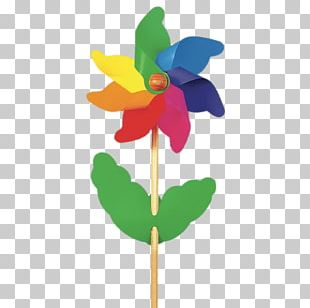 Flower Windmill Toy PNG