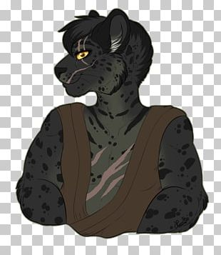 Big Cat Character Fiction Black Panther PNG