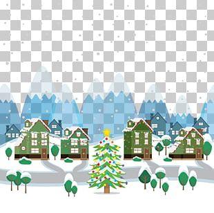 Christmas Snow Illustration PNG