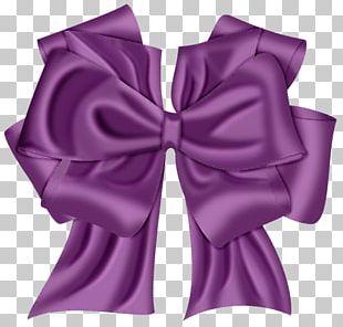 Purple Ribbon Paper PNG