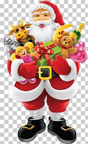 Santa Claus Père Noël Christmas Gift Elf PNG