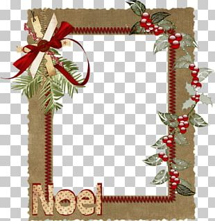 Christmas Ornament Frames Scrapbooking Photomontage PNG