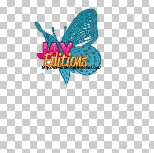 Logo Font Brand Turquoise M. Butterfly PNG