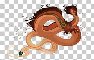 Earl Grey Tea Chinese Dragon Illustration PNG