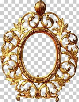 Frames Gold Oval PNG