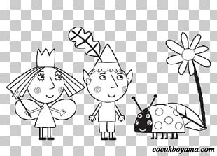 Drawing Coloring Book Nanny Plum Wise Old Elf Child PNG