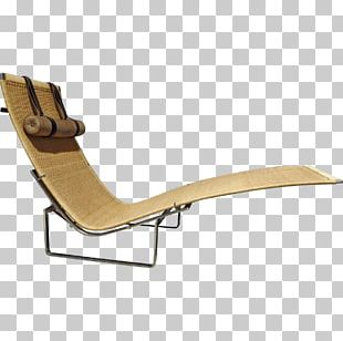 Chaise Longue Sunlounger Chair Wood PNG
