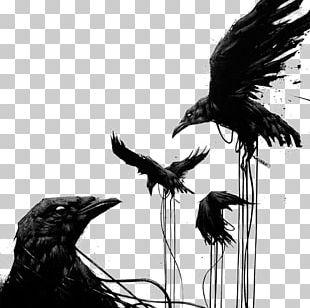 Common Raven Bird House Crow Tattoo Art PNG