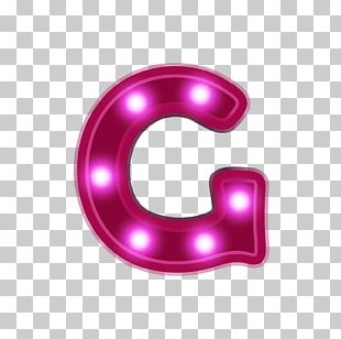 Letter G Neon PNG