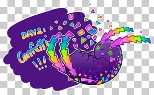 Confetti Cake Illustration Logo PNG